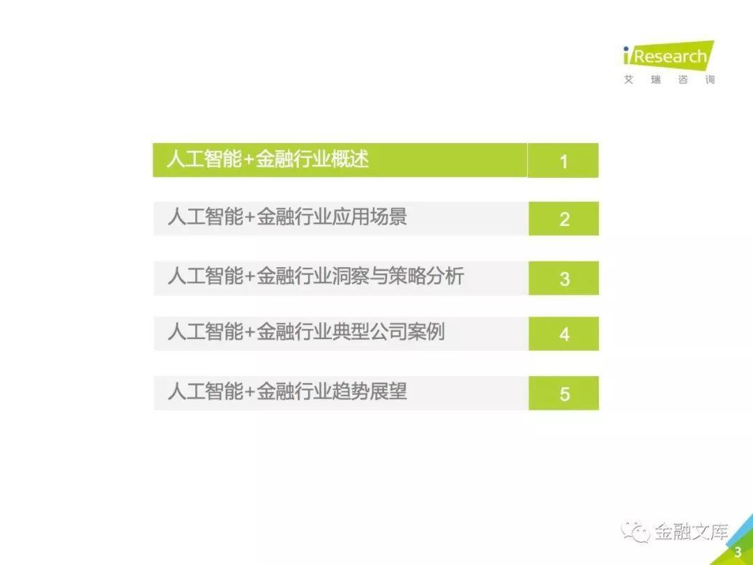 艾瑞咨询:2018年中国人工智能+金融行业研究报告
