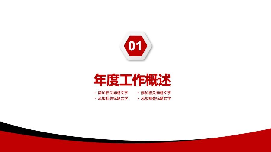 招商银行深红+黑色+金色大气风格专属通用金融PPT模板