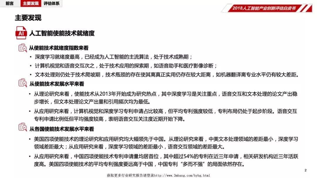 中国人工智能学会:2018人工智能产业创新评估白皮书