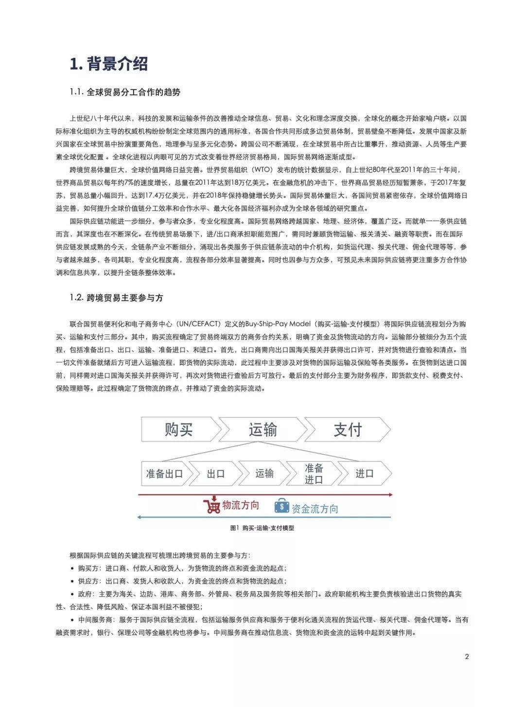 金融壹账通:跨境贸易区块链白皮书