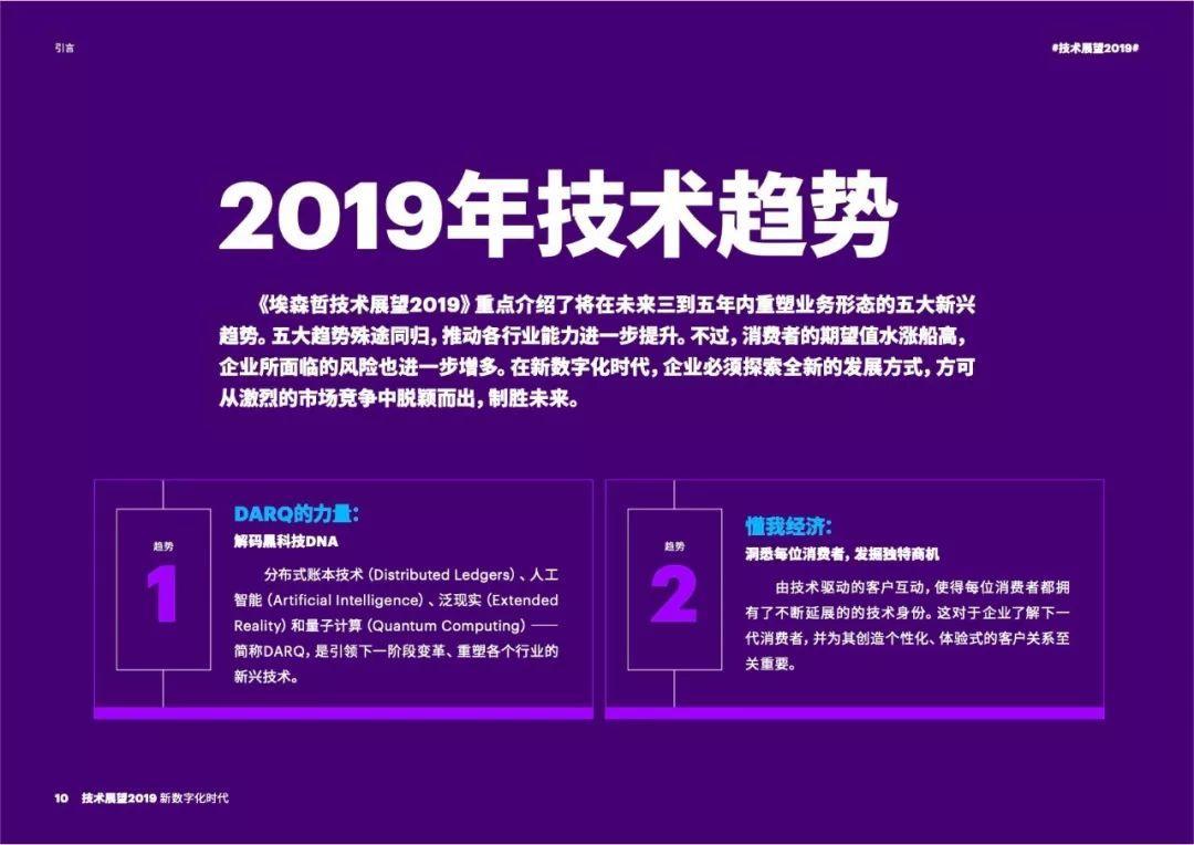 2019技术展望——迎接新数字化时代