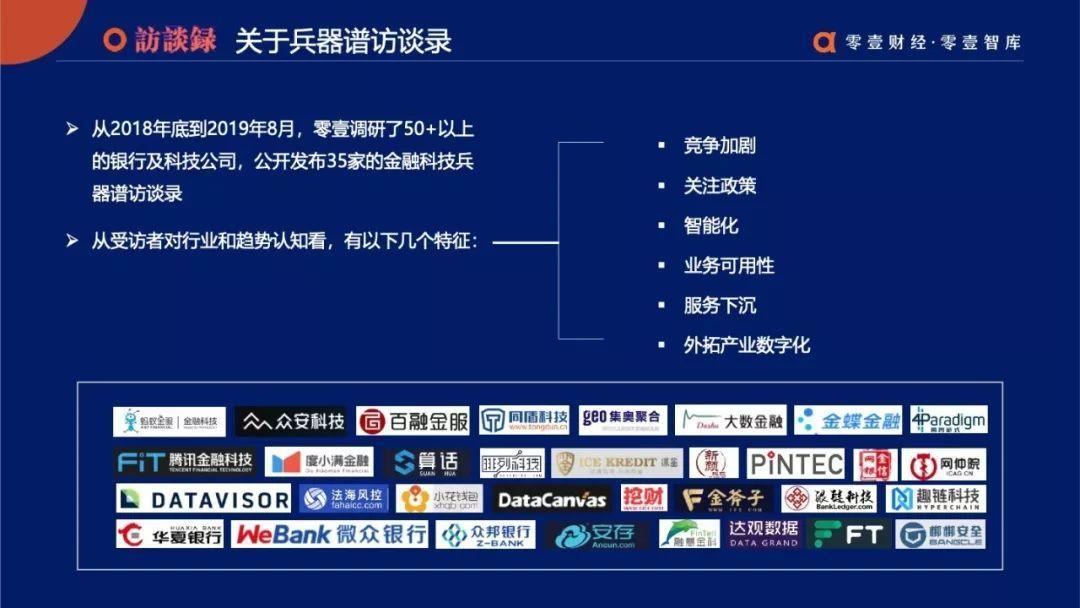 全面智能:零壹金融科技兵器谱报告2019终板