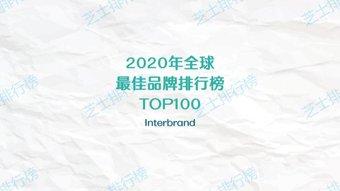 """020年全球最佳品牌TOP100,中国仅华为上榜"""""""